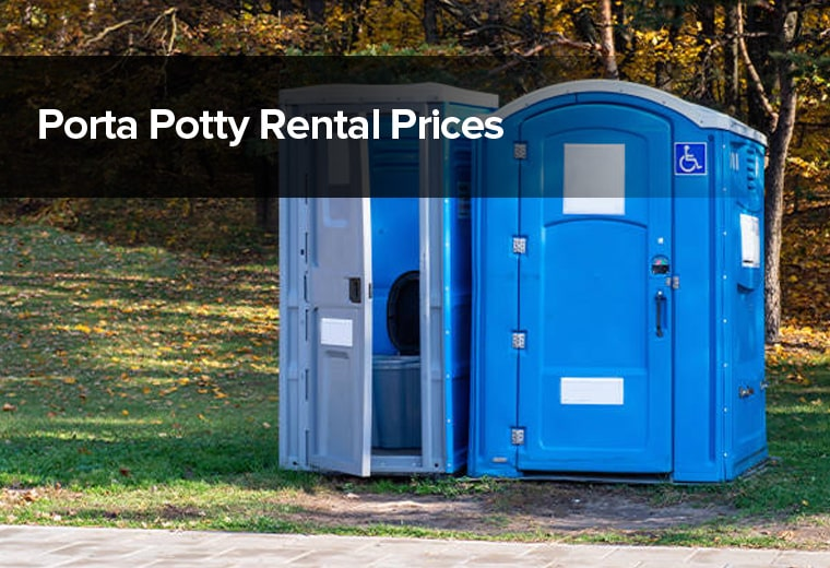 porta potty rental prices